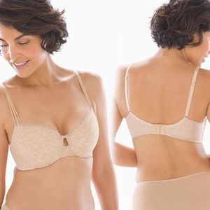 Soma 36C Enticing Lift Balconet Bra Lace Unlined